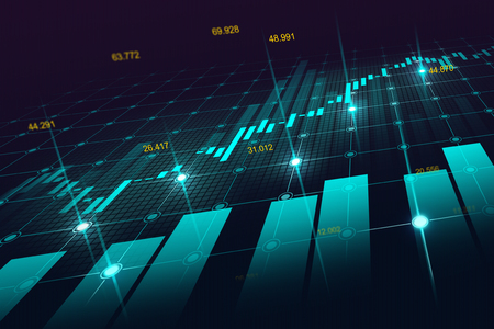 Stock market or forex trading graph in graphic concept suitable for financial investment or Economic trends business idea and all art work design. Abstract finance background Reklamní fotografie