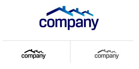 부동산 회사의 집 지붕 로고 벡터 (일러스트)