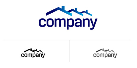 construction company: House roof logo for real estate company