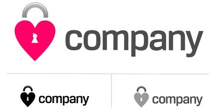 Locks of love logo for dating site Stock Vector - 7427592