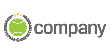 Tennis ball logo as competition symbol