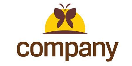 femme papillon: Logo de papillon de mieux-�tre Illustration