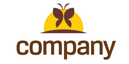 saludable logo: Logotipo de mariposa de bienestar