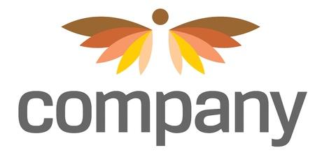 Angel wings  logo for heaven life