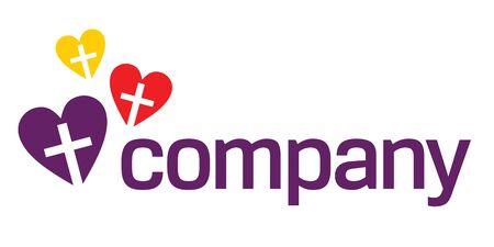 Colour Religion love logo
