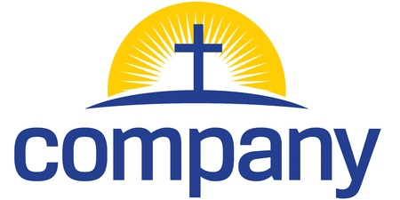 Cross with sun logo Illustration