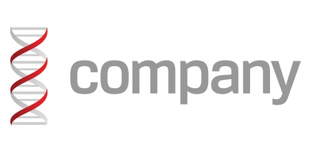 dna strand: Dna strand logo