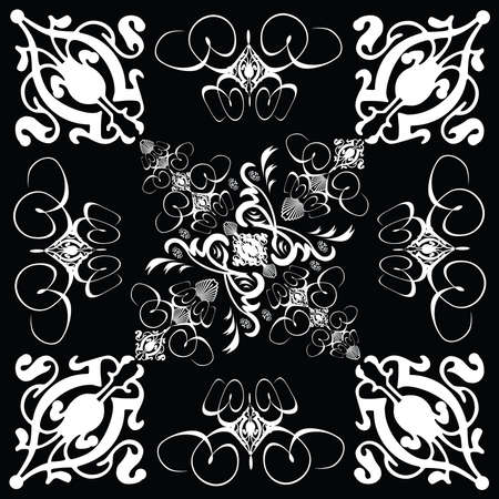 A gothic style tile design in black and white Stock Photo - 687893