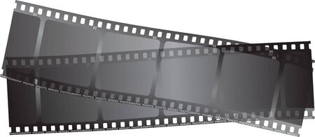 35mm: two bits of film overlaping with a transparent top layer