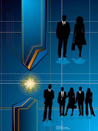 An abstract business concept with office people fusing an idea photo