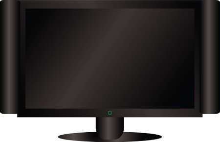 A illustration of a flat screen lcd in black Stock Illustration - 924326