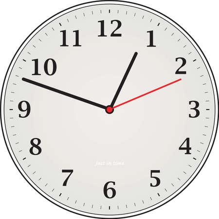 analogue: An illustration of a analogue grey clock  Stock Photo