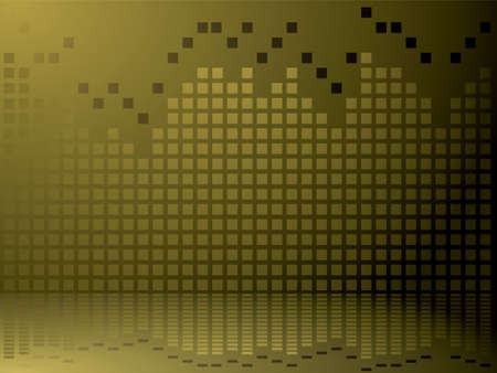 equaliser: A graphical equaliser abstract background in gold and brown