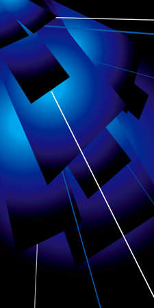 lazer: An abstract blue background with flaps of colour and lazer lines Stock Photo