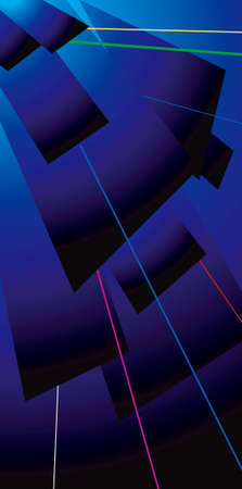 lazer: An abstract image showing overlapping sheets with coloured lazer lines