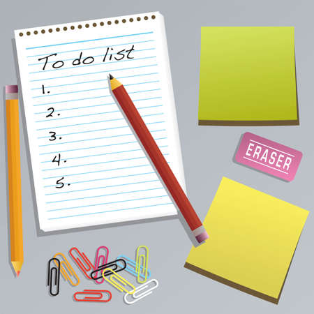 An office collection with a to do list  photo