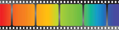A single piece of film with a rainbow effect on it photo