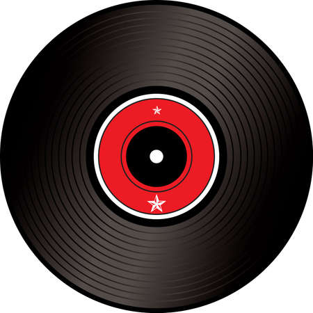 lp: A illustration of an old fashioned lp or record