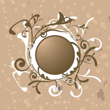 scrolling: A abstract background with scrolling brown and white floral designs Stock Photo