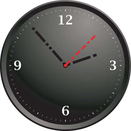pm: A modern black clock with minimal numbers
