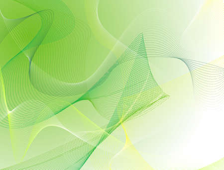 A green and yellow abstract wave background with the use of lines Stock Photo - 927493