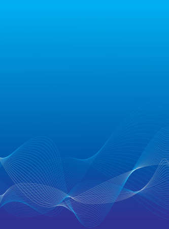 blue gradient background: An abstract background with white and blue lines Stock Photo