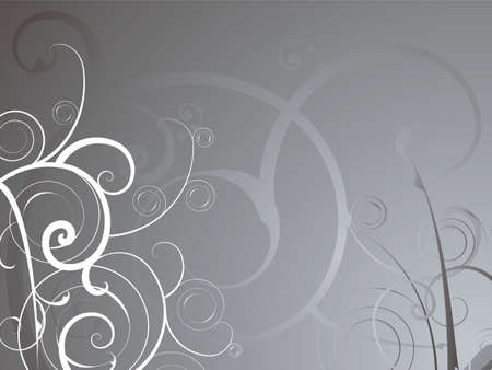 gray flower: Abstract background in silver and grey with a floral design