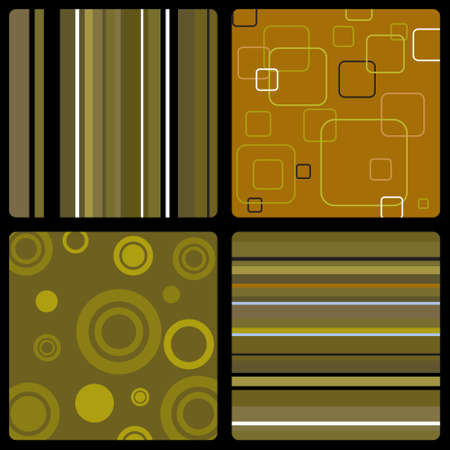dated: Abstract background in the style of 70s wallpaper in brown Stock Photo