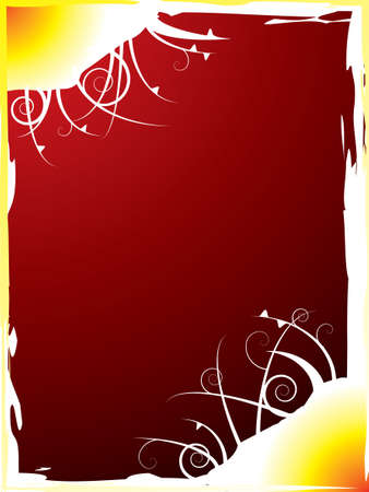 slant: hot colors used in this abstract background with a floral slant