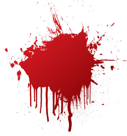 dribble: blood splat with dribble that can be used as a background Stock Photo
