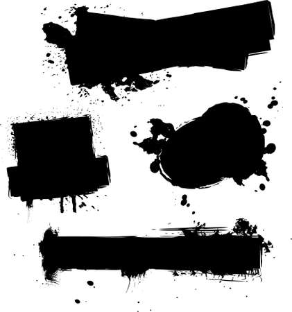 dissolve: abstract ink splat designs with room for sample text