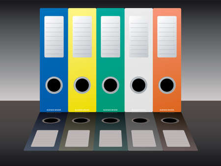 Collection of five multi colored business binders Stock Photo - 961905