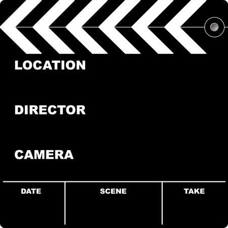 put: Flim clapper board with space to put your own text