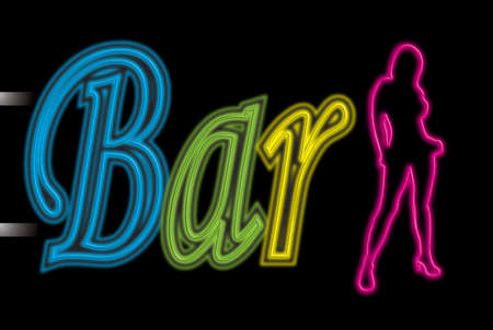 Illustration of a neon sing that could be used to promote a bar illustration