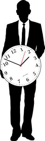 involving: Illustrazione di un concetto per le imprese che coinvolgono il tempo e le persone