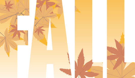 decompose: Fall text illustration that could be used as a title or as a background Stock Photo