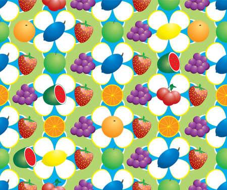 abstract fruit: Resumen de frutas fondo haciendo un estilo 70's patr�n  Foto de archivo