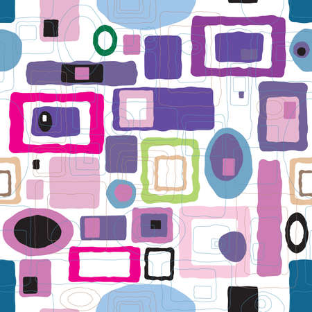 dated: Abstract seventies wallpaper design with subtle pastel colors Stock Photo