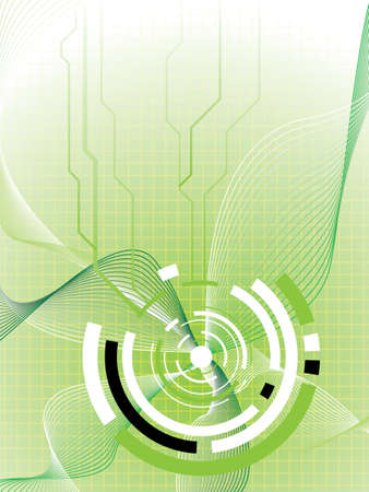 Abstract futuristic design in green and white with flowing lines Stock Photo - 1118437