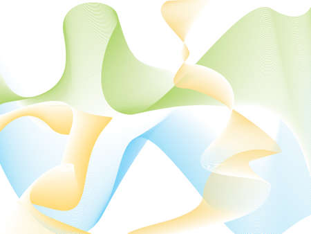 Illustrated flowing abstract background with natural subtle colors photo