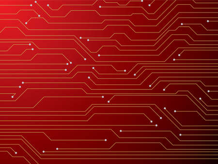 circuitboard: Illustration of a digital red circuit board that is ideal as a background