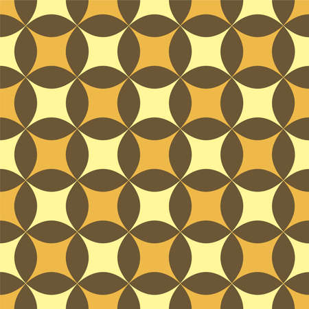 bloat: Illustrattion of a sixties style wallpaper in brown and golden colors with a seamless repeat pattern Stock Photo