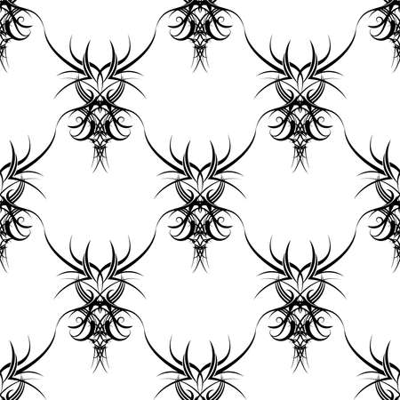 gothic design: Illustration of a gothic design that seamlessly repeats in black and white