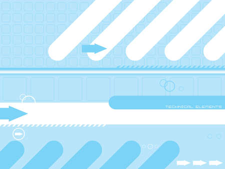 Abstract technical background in cyan and white with room to add your own text Stock Photo - 1282628