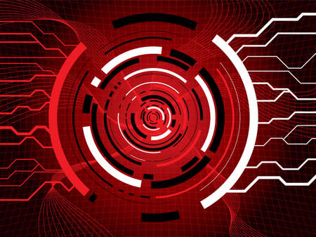 Illustrated technical background showing internet information passing thru a network portal Stock Photo - 1282630