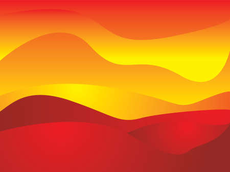 Illustrated abstract background with sun like qualities using hot orange and red colors Stock Photo - 1304624