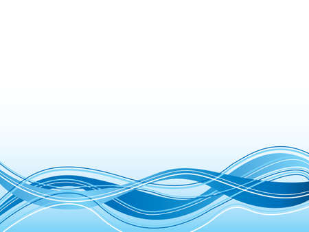 Illustrated abstract blue background with wavy lines and a flowing design photo