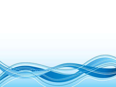 lineas onduladas: Ilustrado resumen fondo azul con l�neas onduladas y un flujo de dise�o