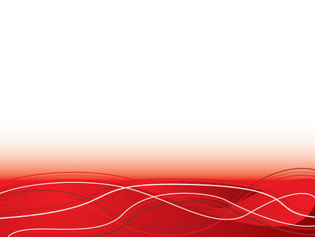 Abstract red hot illustrated background with flowing lines and plenty of blank copy space