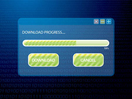 computering: Illustrated background image of a download in progress of a browser Stock Photo